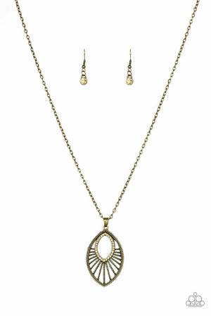 Paparazzi Court Couture Brass Necklace