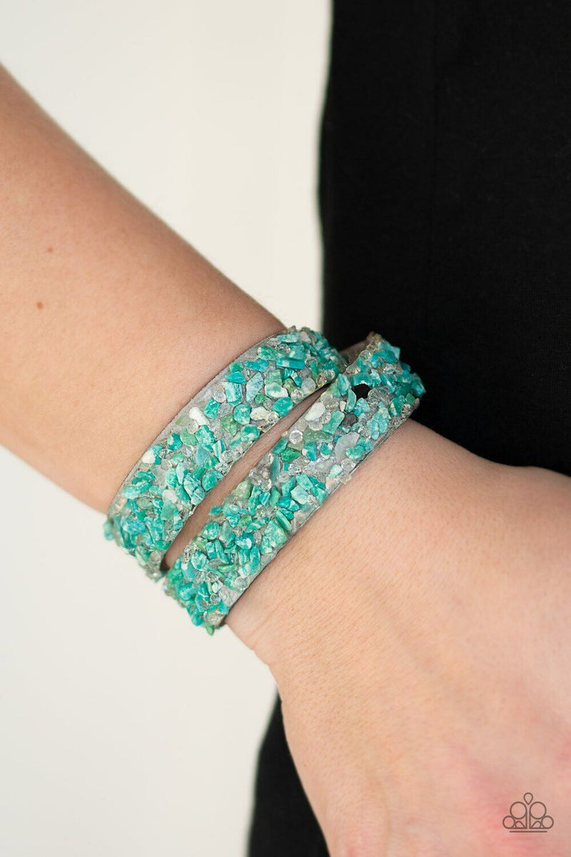 Paparazzi CRUSH To Conclusions Green Urban Bracelet