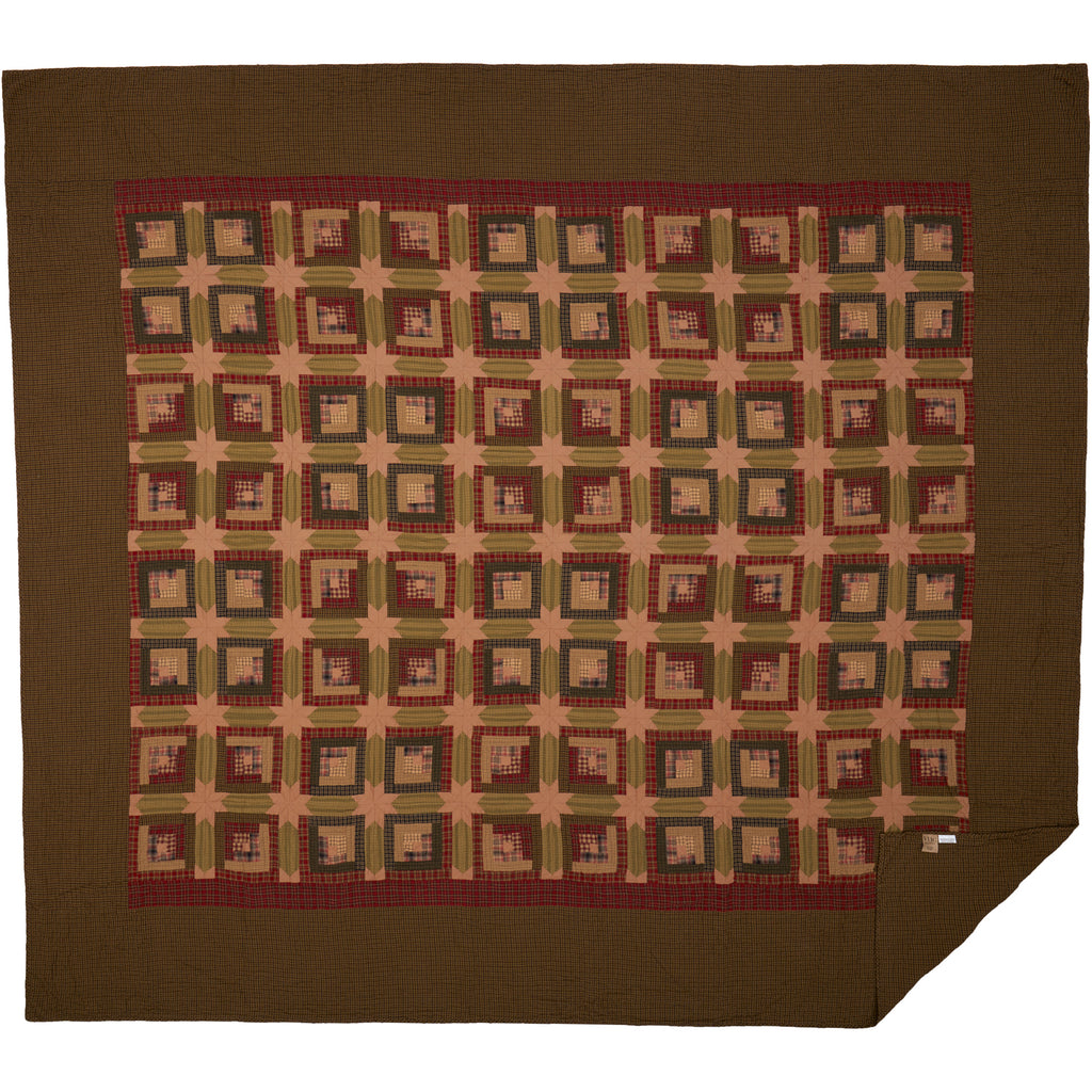 Tea Cabin California King Quilt 130Wx115L