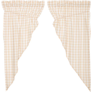 Annie Buffalo Tan Check Prairie Short Panel Set of 2 63x36x18