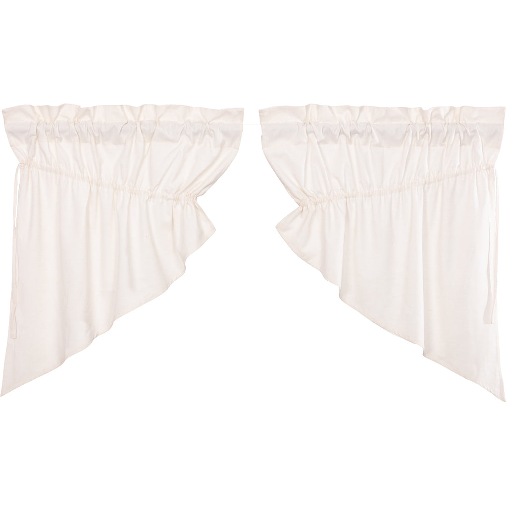Simple Life Flax Antique White Prairie Swag Set of 2 36x36x18