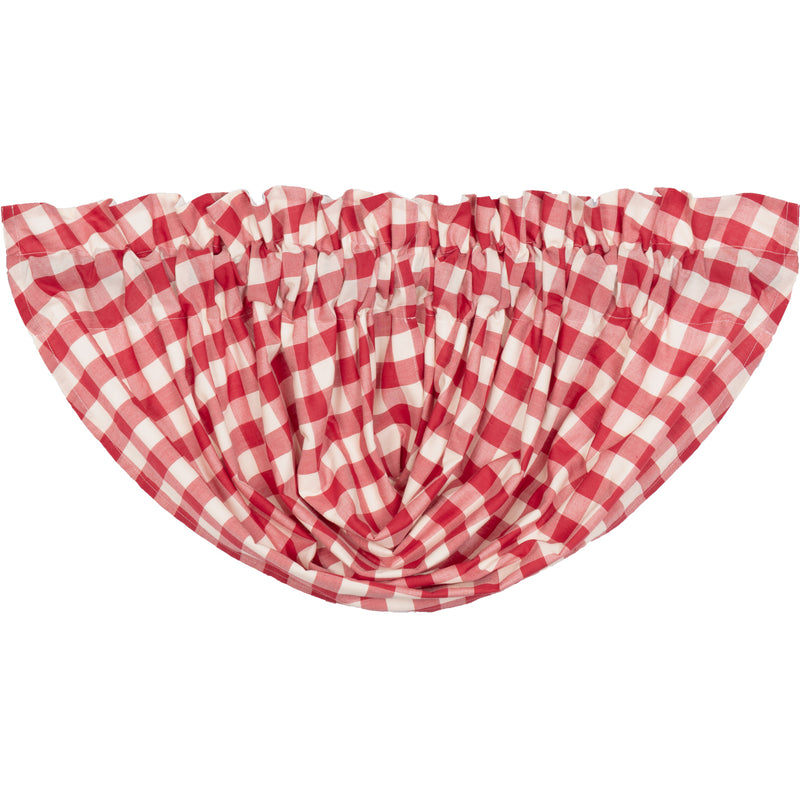 Annie Buffalo Red Check Balloon Valance 15x60