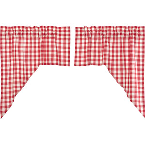 Annie Buffalo Red Check Swag Set of 2 36x36x16