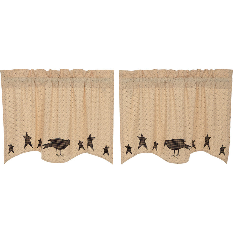 Kettle Grove Applique Crow and Star Tier Set of 2 L24xW36