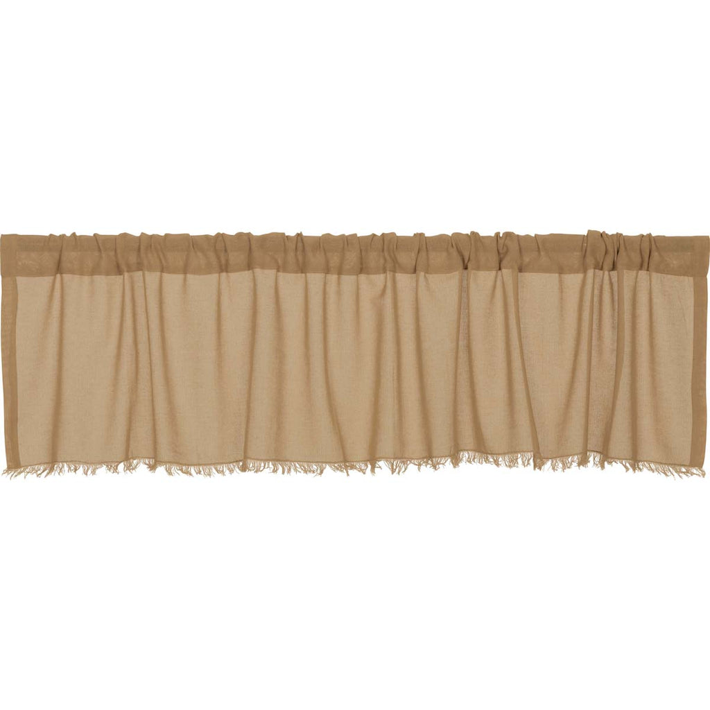 Tobacco Cloth Khaki Valance Fringed 16x72
