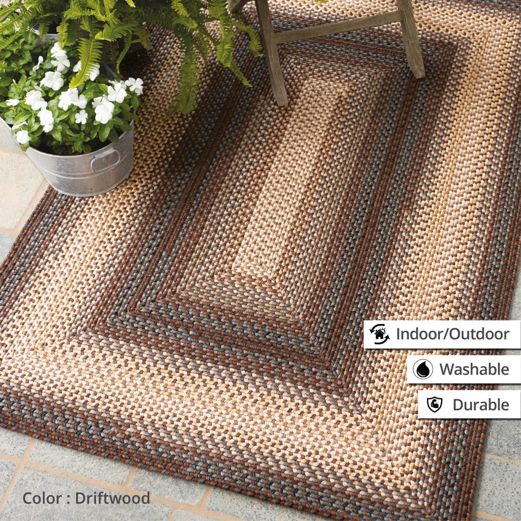 Driftwood Brown Ultra Durable Braided Rug Collection