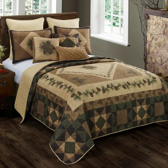 Antique Pine Quilted Collection