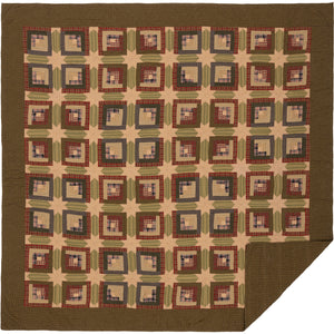 Tea Cabin Queen Quilt 94Wx94L