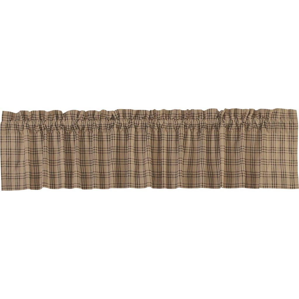 Sawyer Mill Charcoal Plaid Valance 16x90