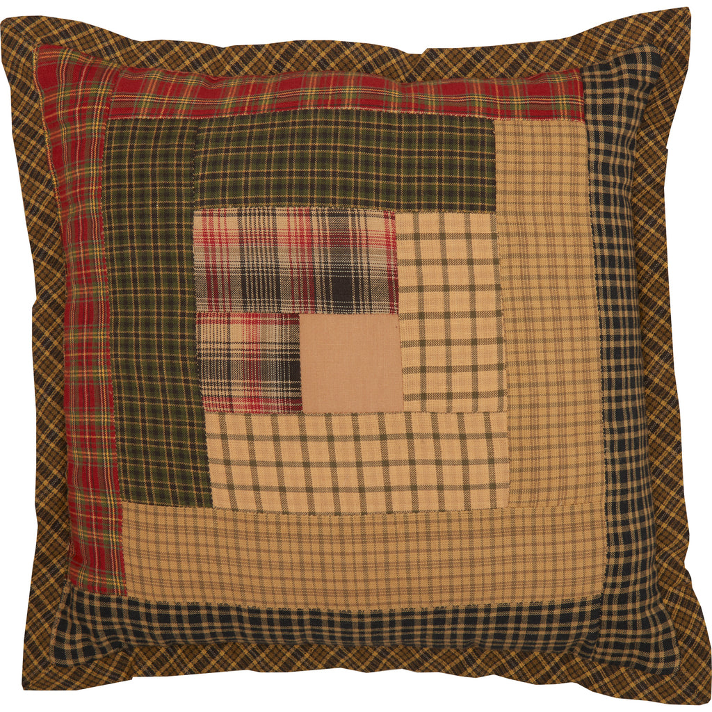 Tea Cabin Patch Pillow 12x12