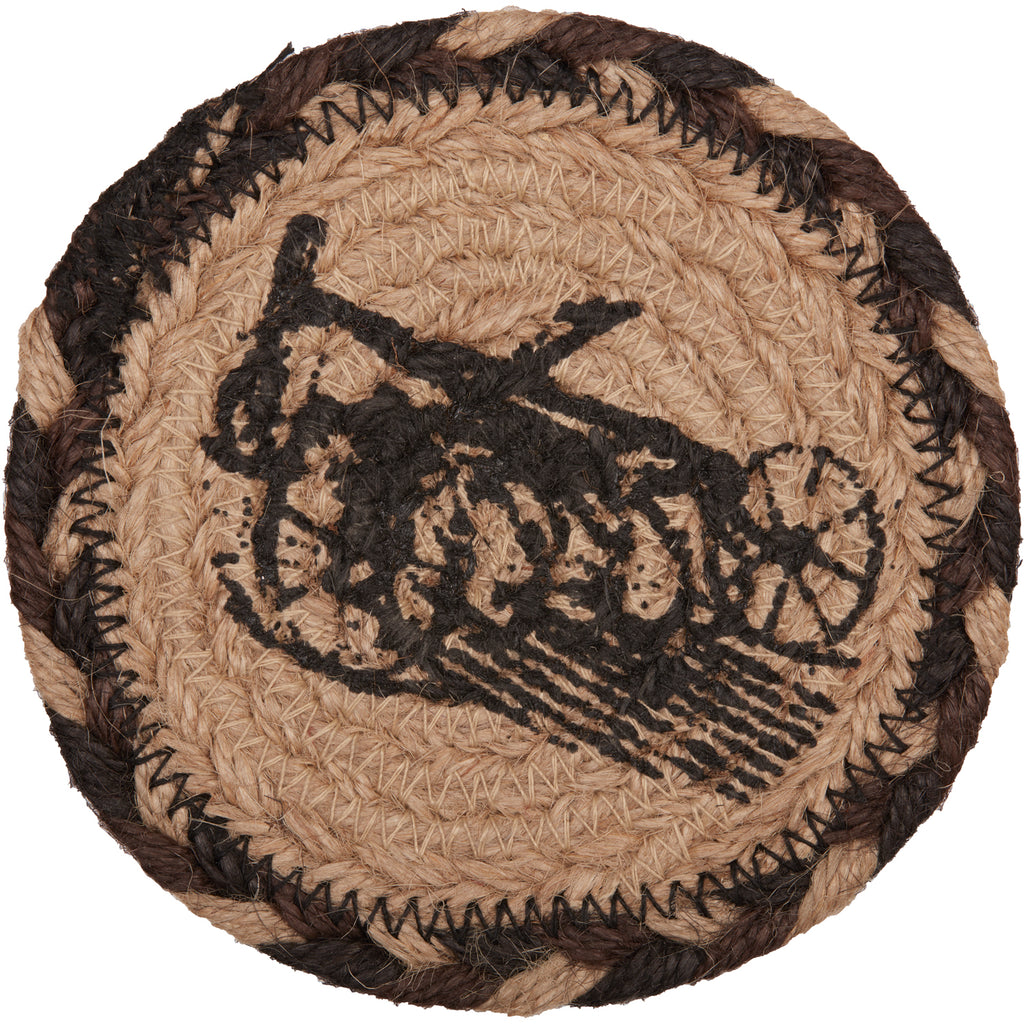 Sawyer Mill Charcoal Plow Jute Coaster Set of 6