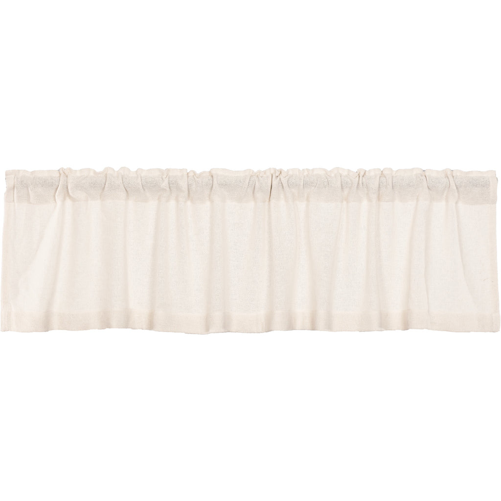 Burlap Antique White Valance 16x72