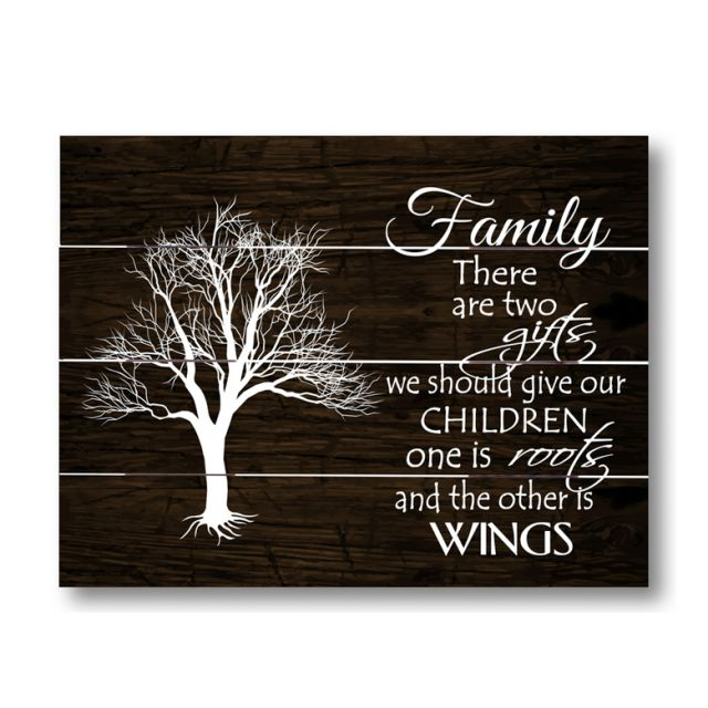 Farmhouse Pallet Wall Art ~ Family-Roots and Wings