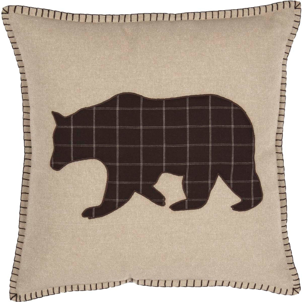 Wyatt Bear Applique Pillow 18x18