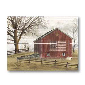 Farmhouse Pallet Wall Art ~ Flag Barn by Billy Jacobs