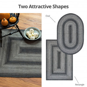 Flint Hill Grey Braided Jute Rug Collection