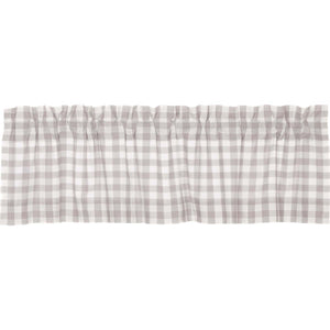 Annie Buffalo Grey Check Valance 16x60