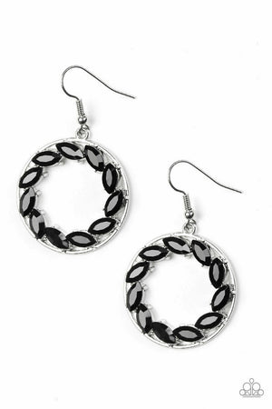 Paparazzi Global Glow Black Earrings