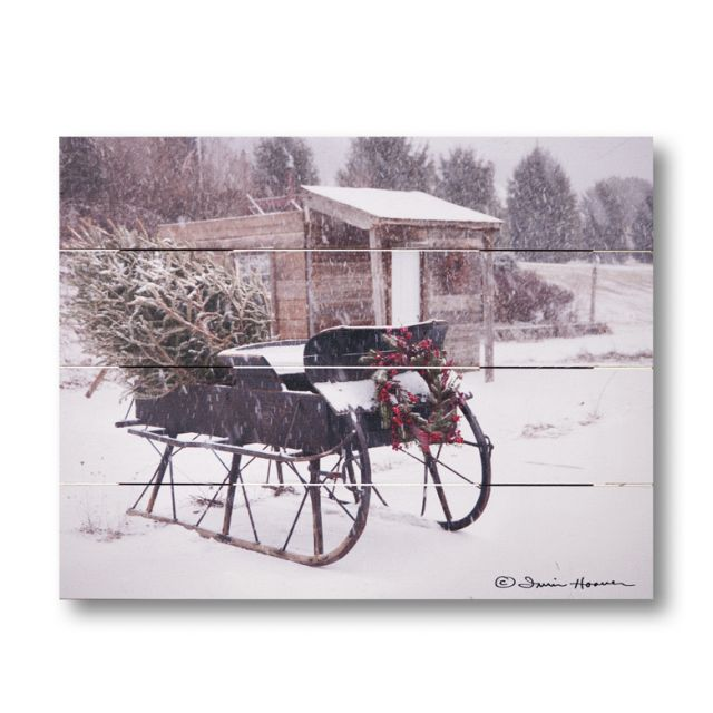 Farmhouse Pallet Wall Art ~ Grandpa's Sleigh by Irvin Hoover
