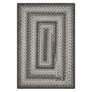 Graphite Grey Ultra Durable Braided Rug Collection