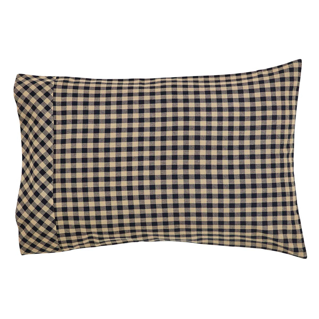 Black Check Standard Pillow Case Set of 2 21x30