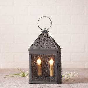 Harbor Lantern with Chisel in Kettle Black