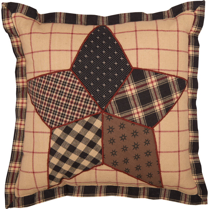 Bingham Star Patch Pillow 10x10