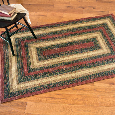 Highland Multi Color Braided Jute Rug Collection