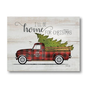 Farmhouse Pallet Wall Art ~ Home For Christmas Vintage Truck