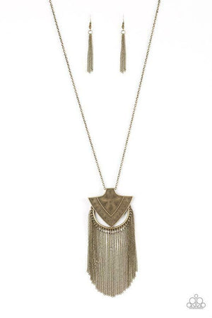 Paparazzi My Main Mantra Brass Necklace