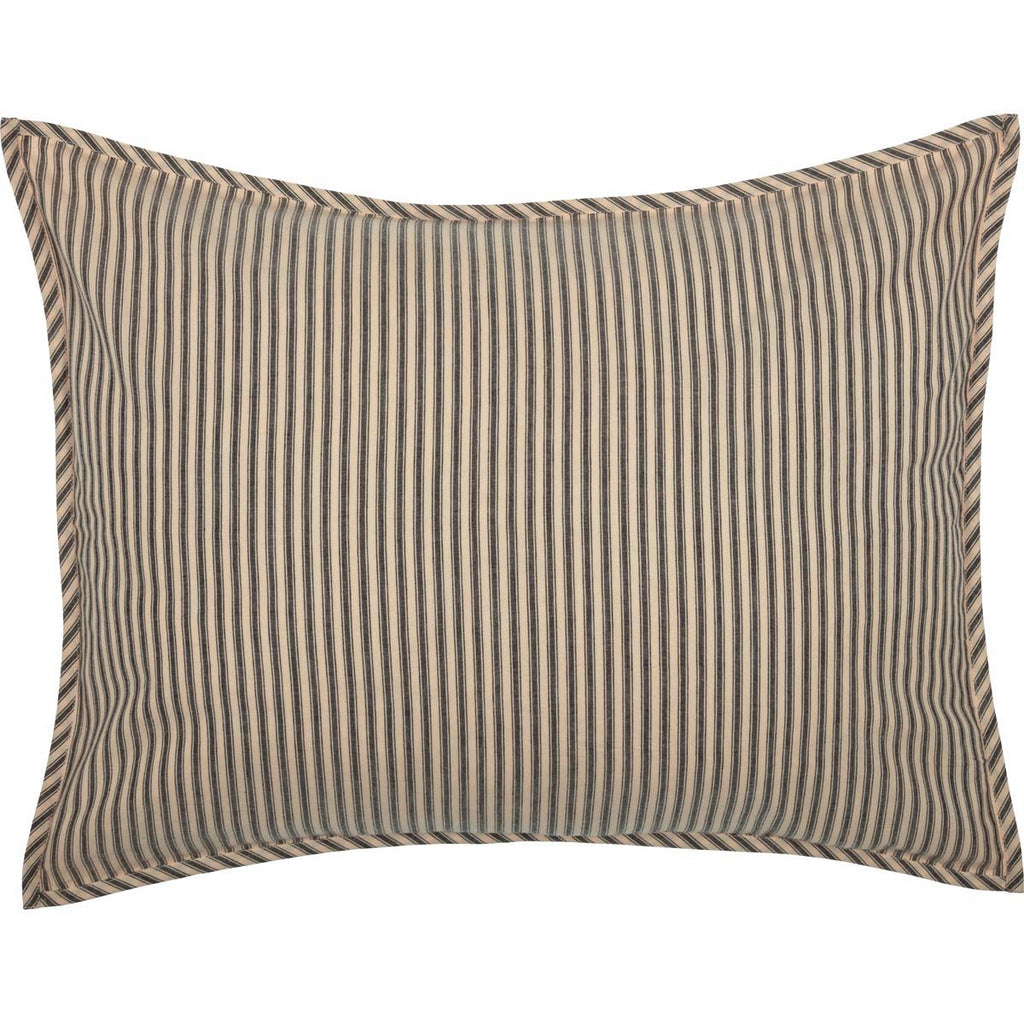 Sawyer Mill Charcoal Ticking Stripe Standard Sham 21x27