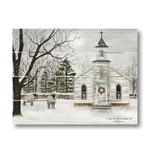 Farmhouse Pallet Wall Art ~ I Heard The Bells On Christmas Day by Billy Jacobs
