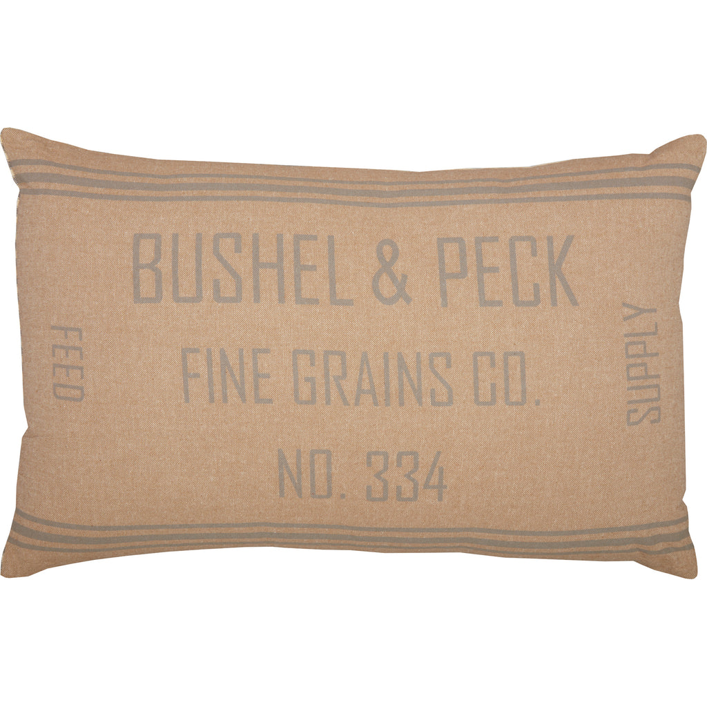 Grace Grain Sack Pillow 14x22