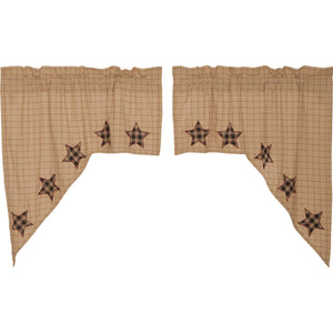 Bingham Star Swag Applique Star Set of 2 36x36x16