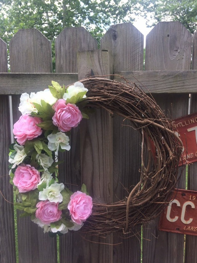 Handmade Wreath - Simple Pink Floral