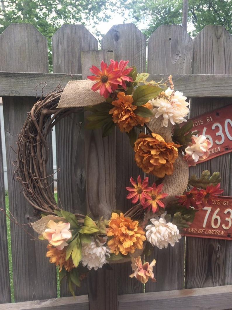 Handmade Wreath - Fall Floral