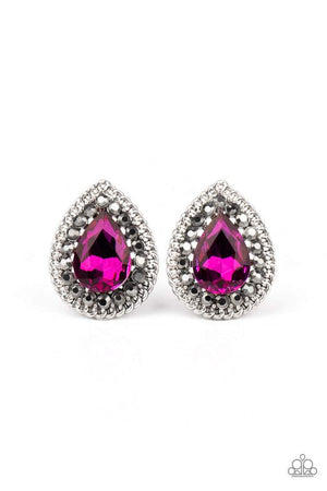 Paparazzi Debutante Debut - Pink Earrings