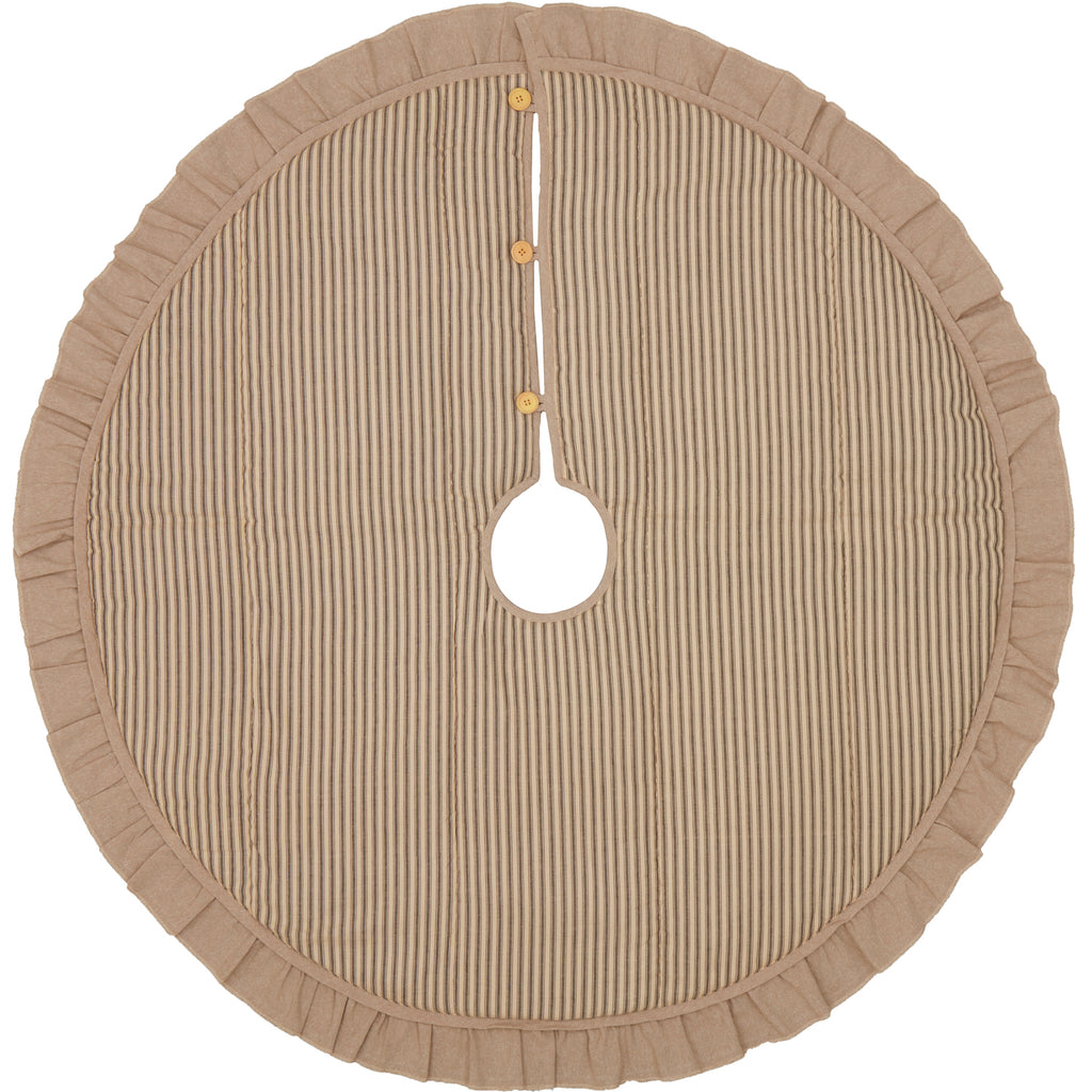 Sawyer Mill Charcoal Ticking Stripe Tree Skirt 48