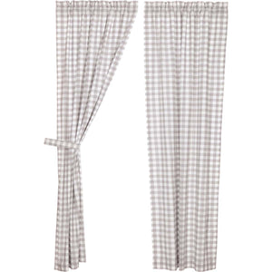 Annie Buffalo Grey Check Panel Set of 2 84x40
