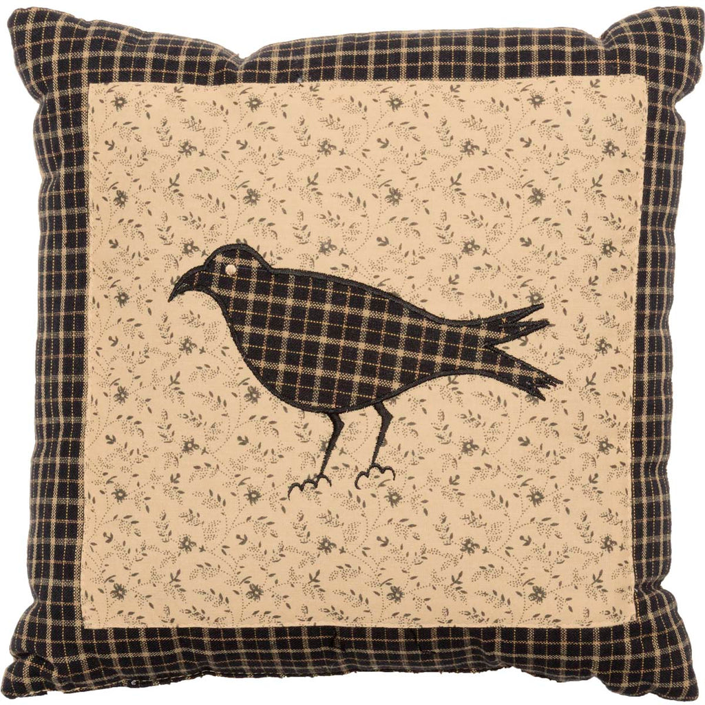 Kettle Grove Pillow Crow 10x10