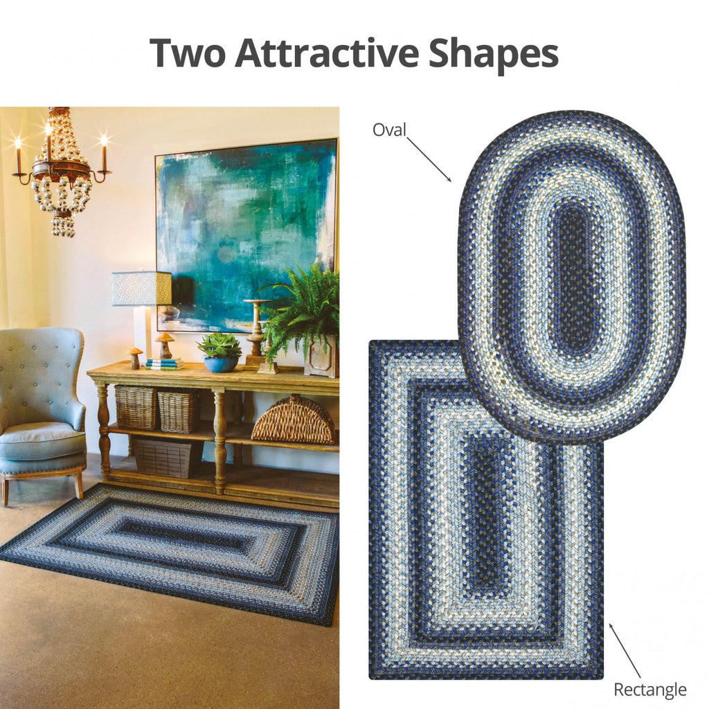 Juniper Blue Ultra Durable Braided Rug Collection