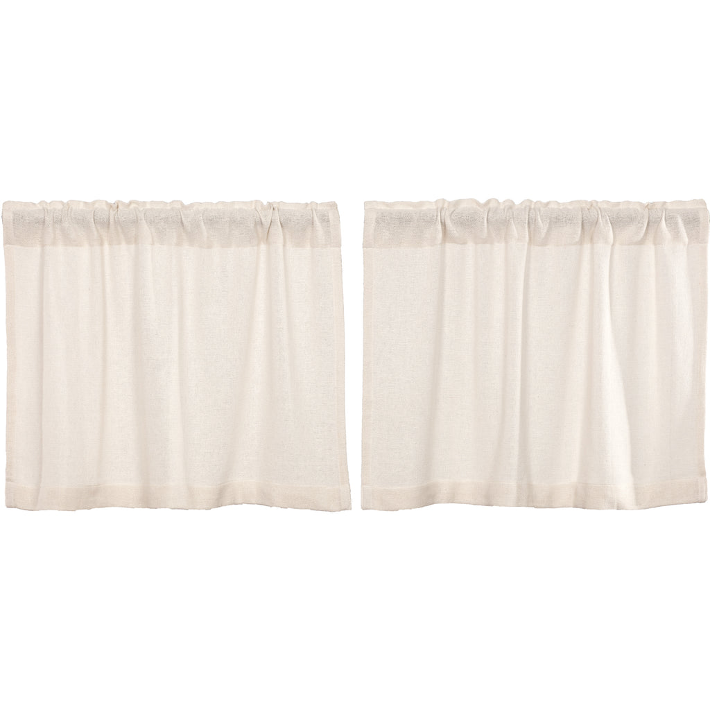 Burlap Antique White Tier Set of 2 L24xW36
