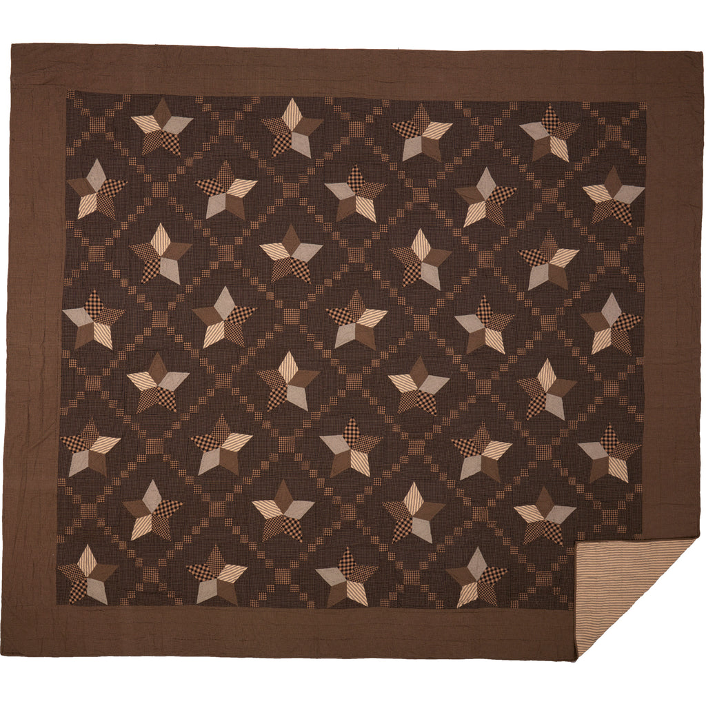 Farmhouse Star California King Quilt 130Wx115L