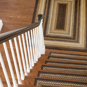 Kilimanjaro Black - Cream Braided Jute Rug Collection