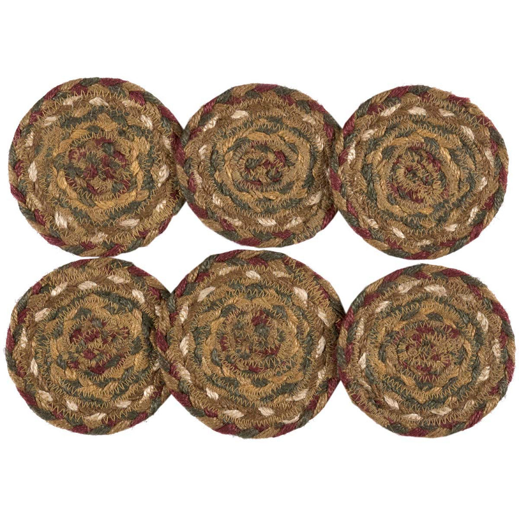 Tea Cabin Jute Coaster Set of 6