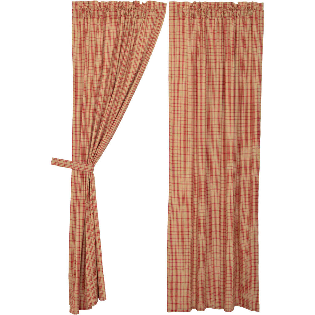 Sawyer Mill Red Plaid Panel Set of 2 84x40