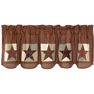 Abilene Patch Block and Star Valance 20x60