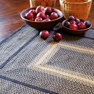 Manchester Black Braided Jute Rug Collection