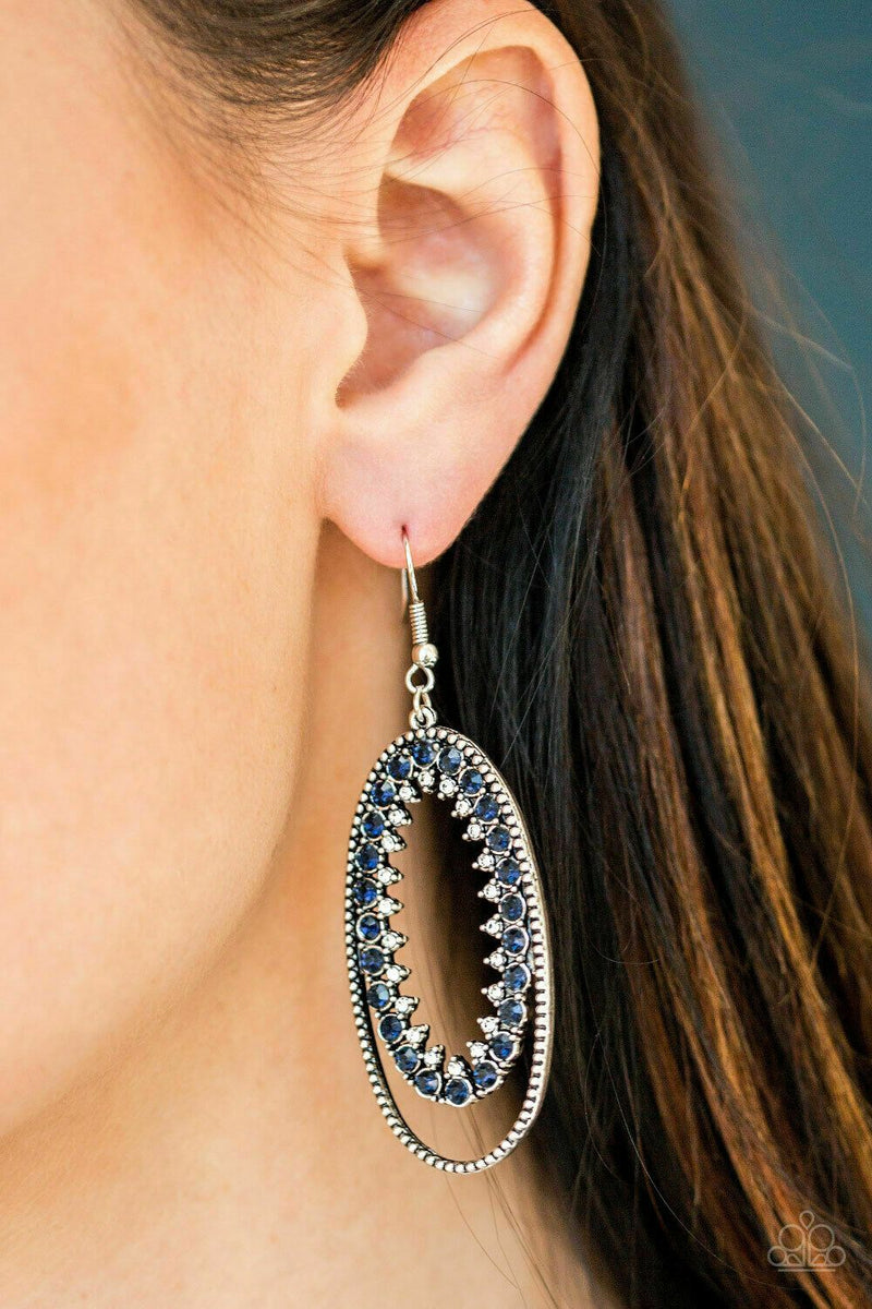 Paparazzi Marry Into Money Blue Earrings