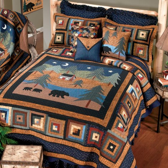 Donna Sharp Midnight Bear Rustic Lodge Quilted Collection